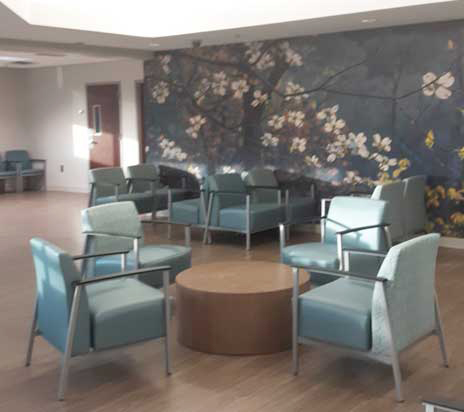 renovated waiting room